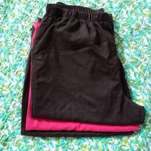 Kim Rogers, elastic waist capri shorts, size 14P